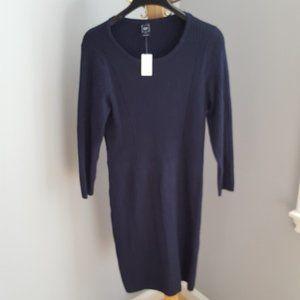 NWT Gap navy blue ribbed knit dress
